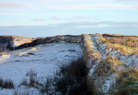 Northumberland, UK: The wall from near the Steelyards car park