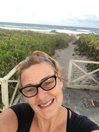Delray Breakers on the Ocean: me outside my room