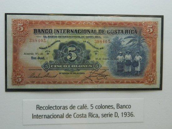 Image result for billetes de costa rica recolectoras de café