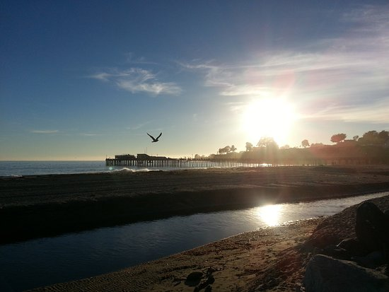 Capitola, Kalifornia: Strand mit Sonnenuntergang