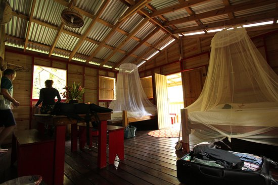 Marigot, Dominica: second floor cabin with two double beds