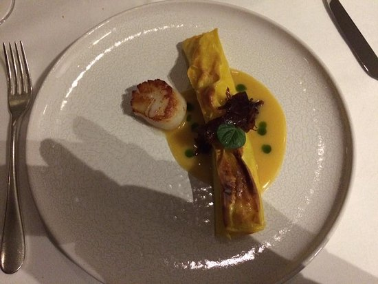 Chapter One: Crisp grilled lasagne of scallop and atlantic crab- proclaimed as best starter ever tasted!