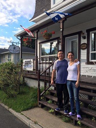 Saint-Jean-des-Piles, Kanada: Meggie et Vénélin au moment du départ...