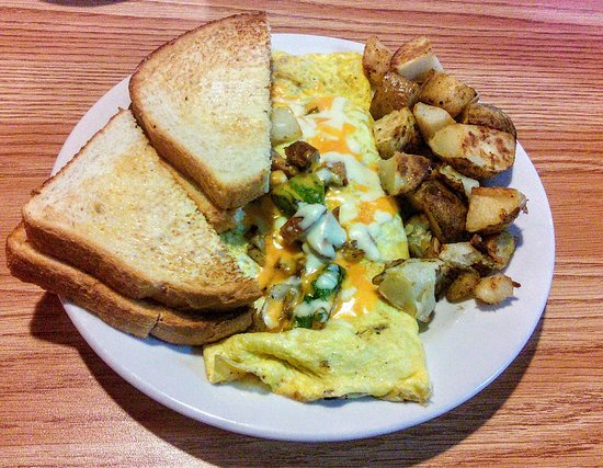 Quispamsis, Canadá: B's special omelette