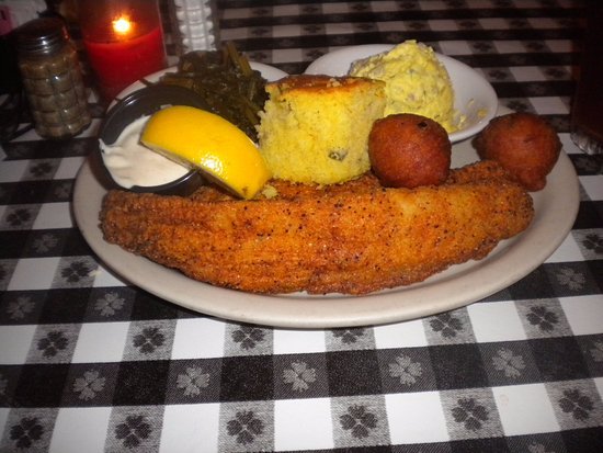 Oxford, MS: Catrfish with all the trimongs.