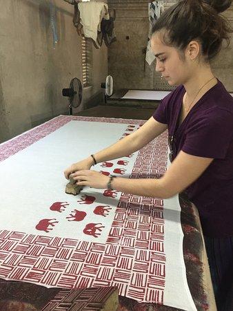 Bagru Block Painting Workshops in Jaipur