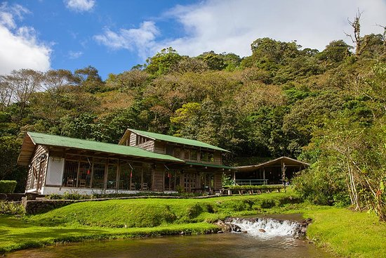 Bajos del Toro, Costa Rica: Building where the dining room is.