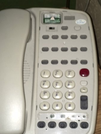 Greenwood Village, Kolorado: This is my telephone, notice the missing buttons.