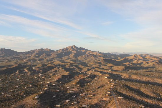 Tucson Balloon Rides: View to the west as we ascend