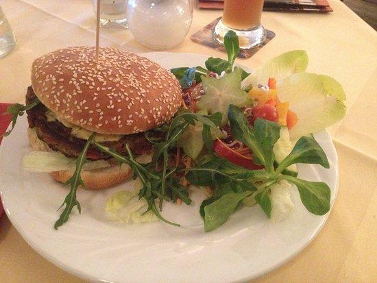 Vegan plates in Cafe Central, Flensburg.
