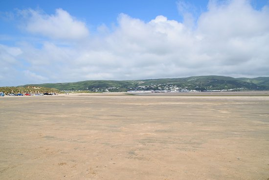 Borth, UK: Estuary beach