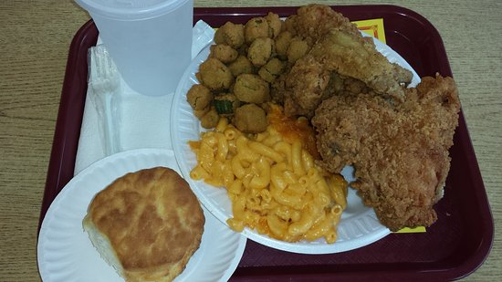 Henderson, Carolina del Norte: 3Piece chicken dinner...huge meal!