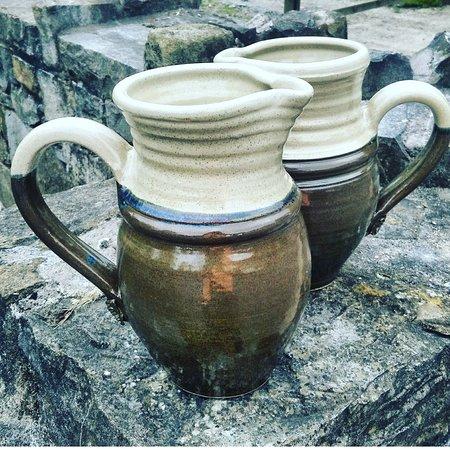 Glazed jugs