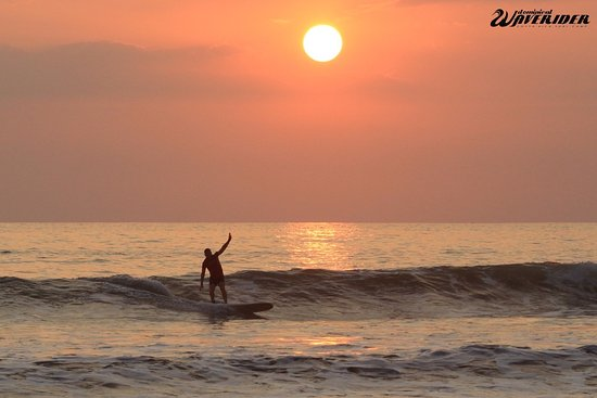 Surf at sunset, the best thing to do in Dominical!