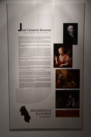 Museo Segorbinos Ilustres: Panel explicativo de José Camarón