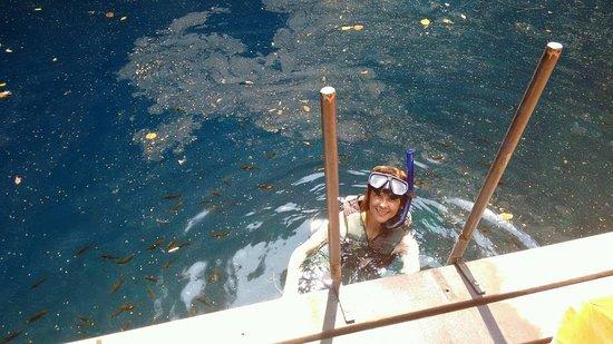 Agua Milagrosa lagoon (Dolina): Iniciando flutuação.