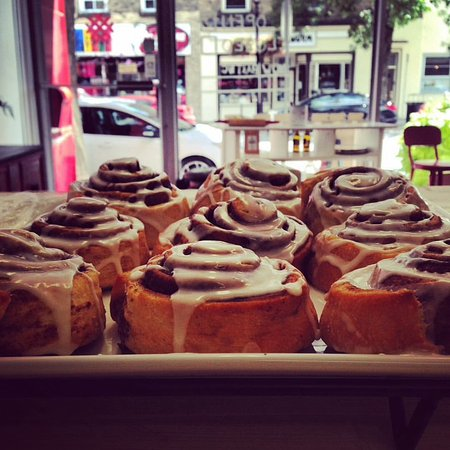 Perth, Canada: Fresh cinnamon rolls