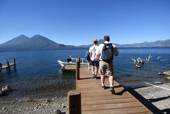 Casa Palopo: At the hotel's dock on Lake Atitlan - getting on boat for a tour