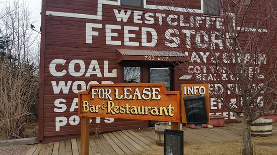 Westcliffe, CO: Closed.  But you could start your restaurant here.