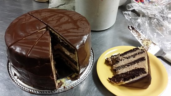Fairplay, CO: house made tuaca chocolate mousse cake