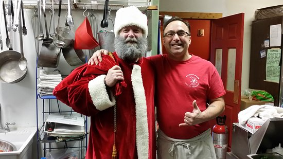 Fairplay, CO: santa in the kitchen