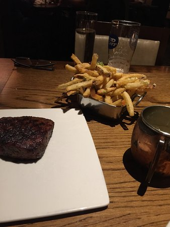 Burwell's Stone Fire Grill: ribeye and fries