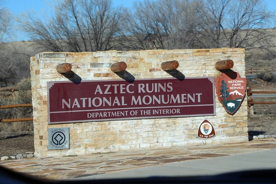 Aztec, NM: Entry Sign