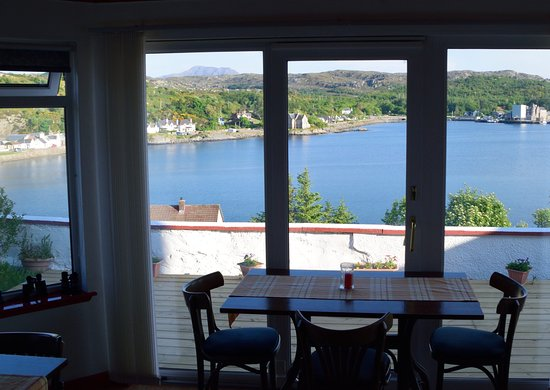 Lochinver, UK: View from breakfast room