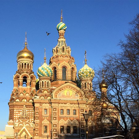Храм Спаса на Крови: Church of the Savior on Spilled Blood - Built in a historical Russian Style with colorful onion