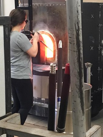 Decatur, GA: Getting the Melted Glass out of the furnace