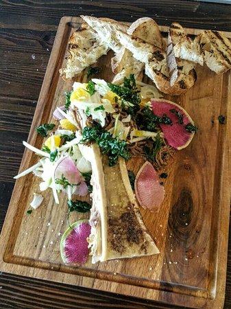 Redmond, WA: Bone Marrow -  fennel slaw, picked onion, braised brisket, grilled bread