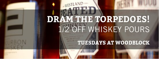 Redmond, WA: Tuesday Special - 1/2 Off Whiskey Pours! Come try a tasting flight!