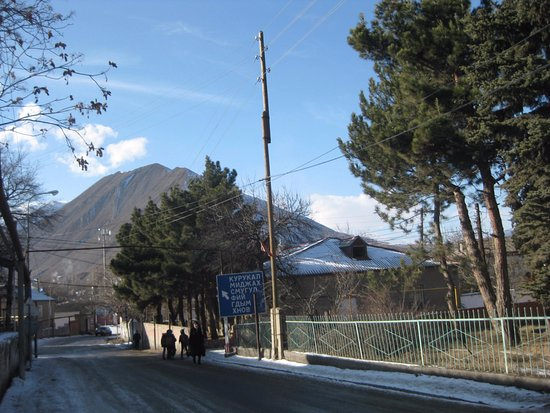 Akhty, Ρωσία: и от музея - дорога в горы и к границе
