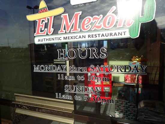 Saint Peters, MO: Window information for El Mezon