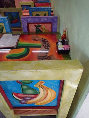 Saint Peters, MO: Colorful seats and tables at El Mezon