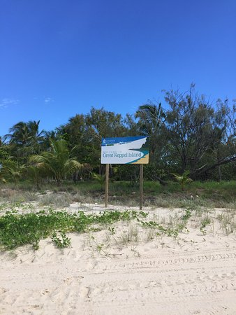 Great Keppel Island, Australia: the welcome sign