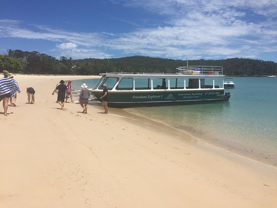 Остров Грейт-Кеппел, Австралия: getting ready to board the glass bottomed boat