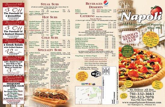 Napoli Pizza Whitman Menu Prices Restaurant Reviews Tripadvisor