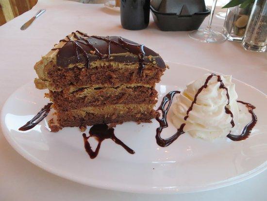 Va Bene Caffe: Chocolate layered cake with whipped cream