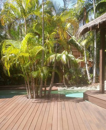 Peregian Beach, Australien: View of pool and decking