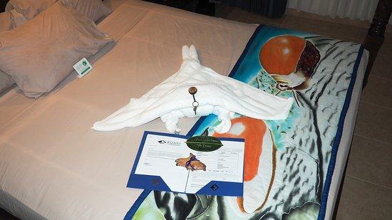 Manta Ray Bay Resort: Welcome display