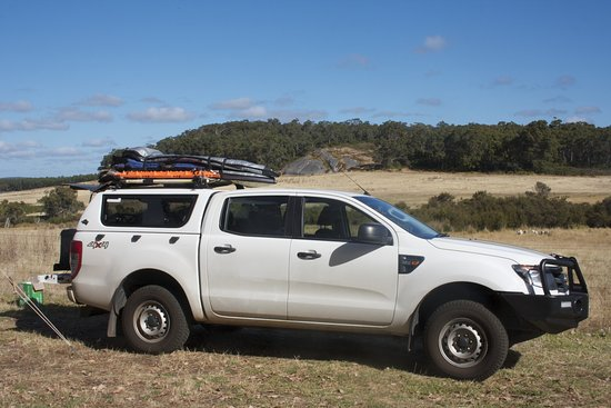 Denmark, Australia: Our ute with the fab view beond