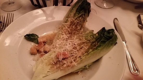 Crystal Bay, NV : Grilled Ceasar salad prepared at tableside.