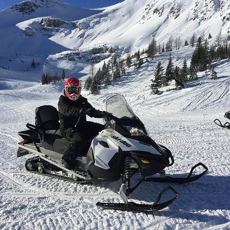 Panorama, Canada: Snow mobile and surrounds.