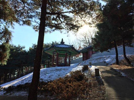 Suwon, Sør-Korea: hillside gazebo behind the palace