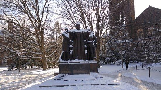 Urbana, IL: University of Illinois Alma Mater in the Snow