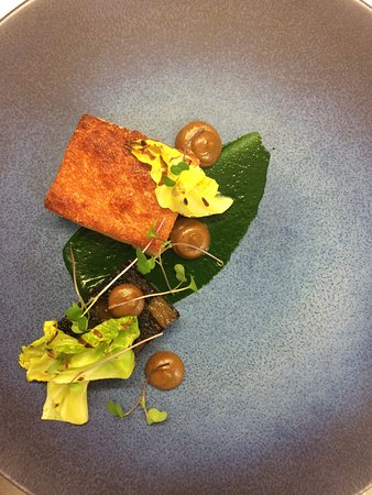 Berkhamsted, UK: Piglet belly on the menu this February