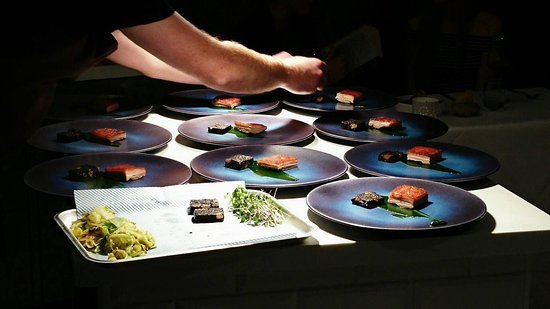 Berkhamsted, UK: Ten delicious plates about to go out to our diners
