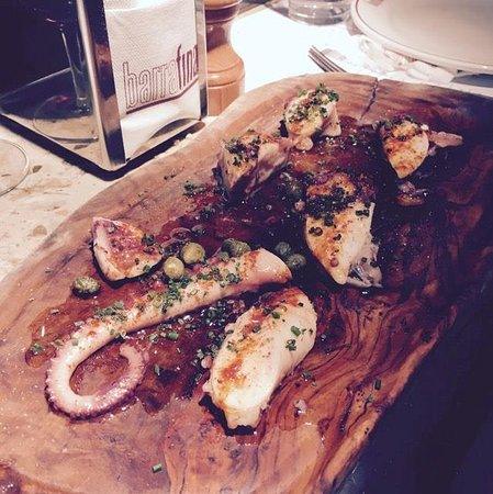 Barrafina: Octopus with capers