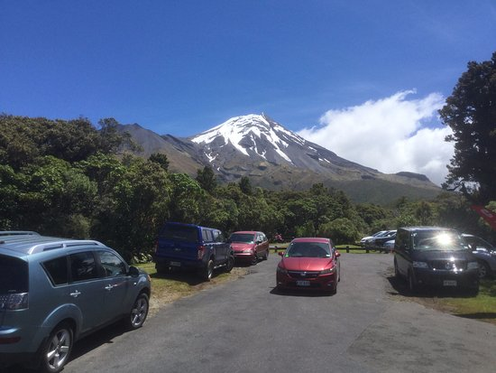 Stratford, Nueva Zelanda: Mt Taranaki from the Dawson Falls Visitor Centre